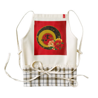 A Chinese ornament of good luck and prosperity Zazzle HEART Apron