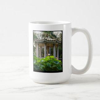 A Chinese pavilion amidst a Lotus Pond Coffee Mug