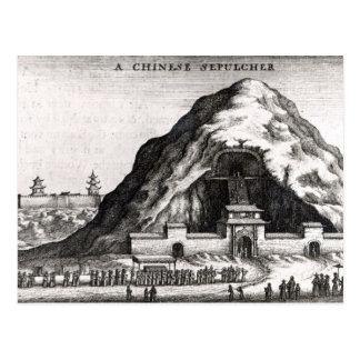 A Chinese Sepulcher, 1669 Postcard