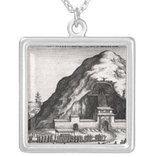 A Chinese Sepulcher, 1669 Silver Plated Necklace
