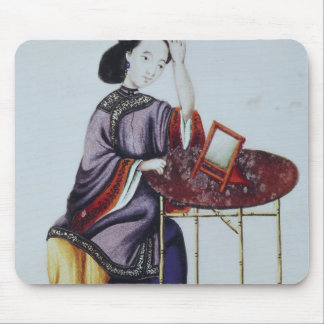A Chinese Woman Arranging her Hair Mouse Pad