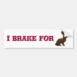 A chocolate bunny... bumper sticker