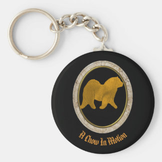 A Chow In Motion Key Chain