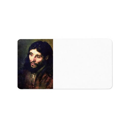 A Christ after life by Rembrandt Address Label