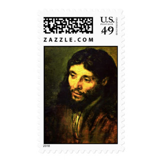 """A Christ After Life """""""" """" By Rembrandt Harmenszoon Postage Stamps"""