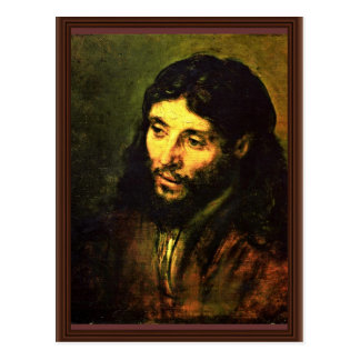 "A Christ After Life """" "" By Rembrandt Harmenszoon Postcard"