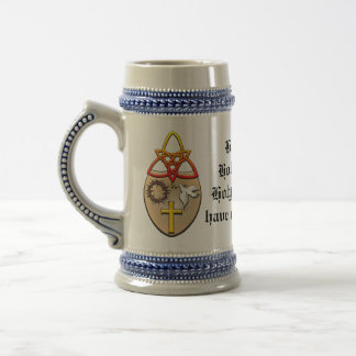 A Christian coat of arms Beer Stein