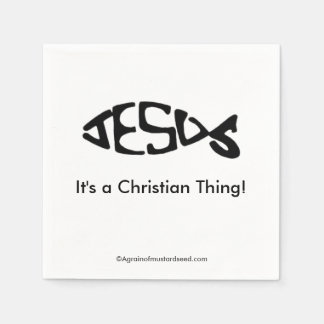A Christian Thing Standard Cocktail Napkin