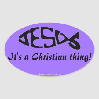 A Christian Thing Oval Stickers