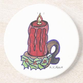 """ A Christmas Candle "" Coaster"