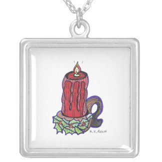 """""""A Christmas Candle"""" Necklace"""