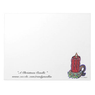 """"""" A Christmas Candle """"... Notepad"""