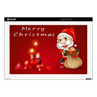 """A christmas card template decal for 17"""" laptop"""