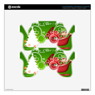 A christmas card template PS3 controller decal