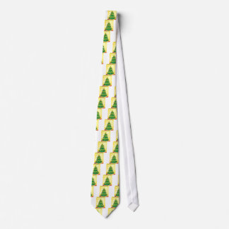 A christmas card template with a green christmas t neck tie