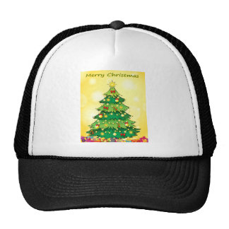 A christmas card template with a green christmas t trucker hat