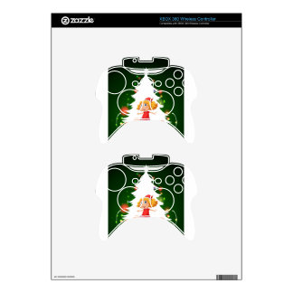 A christmas card template with a happy young girl xbox 360 controller skin