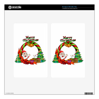 A christmas card template with a monster and a sno skin for kindle fire