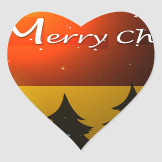 A christmas card template with christmas balls heart sticker