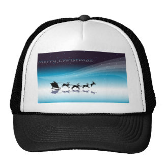 A christmas card template with reindeers trucker hat
