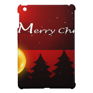 A christmas card template with sparkling balls cover for the iPad mini