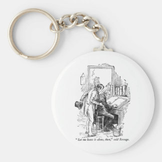 A Christmas Carol Basic Round Button Keychain
