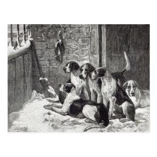 A Christmas Carol, from 'Leisure Hour', 1888 Postcard