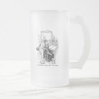 A Christmas Carol: Leave It Alone Frosted Glass Beer Mug