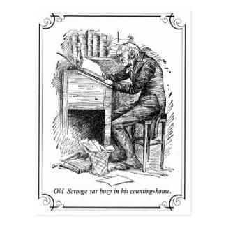A Christmas Carol: Old Scrooge Postcard