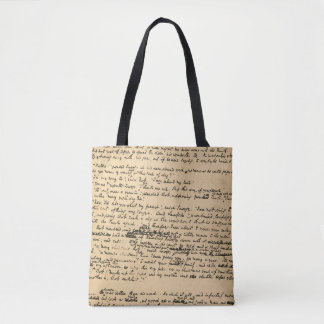 A Christmas Carol Original Manuscript Tote Bag