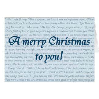 A Christmas Carol Quote Card