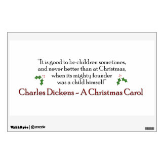 A Christmas Carol Quote Decal