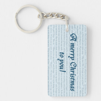 A Christmas Carol Quote Double-Sided Rectangular Acrylic Keychain
