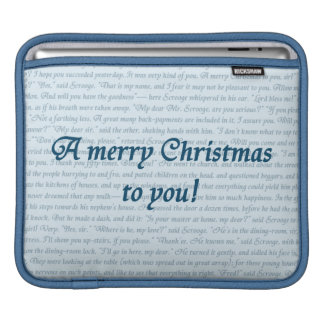 A Christmas Carol Quote double-sided Sleeve For iPads