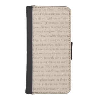 A Christmas Carol Quote iPhone SE/5/5s Wallet Case