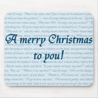 A Christmas Carol Quote Mouse Pad