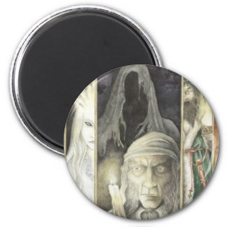 A Christmas Carol, Scrooge and the Three Ghosts 2 Inch Round Magnet