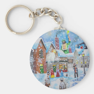 a Christmas Carol Scrooge and the three ghosts Keychain