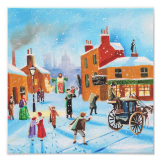 A Christmas Carol Scrooge and Tiny Tim by G Bruce Poster