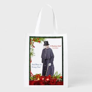 A Christmas Carol Scrooge Grocery Bag