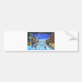 A Christmas Carol Scrooge Winter street scene Bumper Sticker