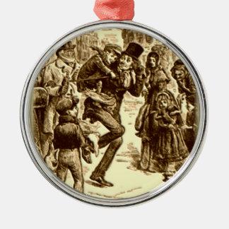 A Christmas Carol - Tiny Tim Round Metal Christmas Ornament