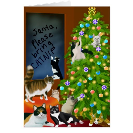 A Christmas Cat Tree Card
