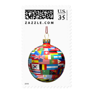 A Christmas decoration bauble Postage Stamp