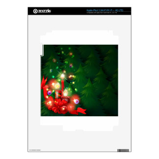 A christmas design with lighted candles iPad 3 decal