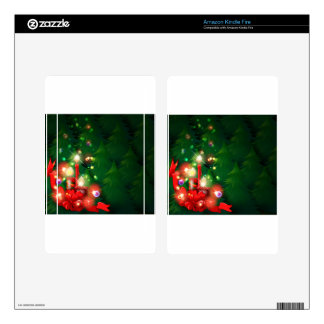 A christmas design with lighted candles kindle fire decal