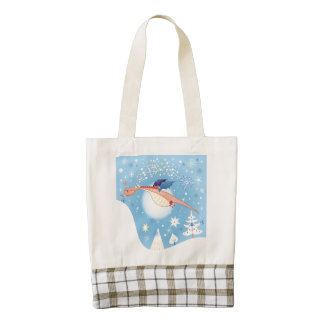 A Christmas Dragon Zazzle HEART Tote Bag