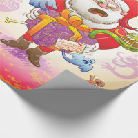 A Christmas Gift from Halloween Creepies to Santa Wrapping Paper