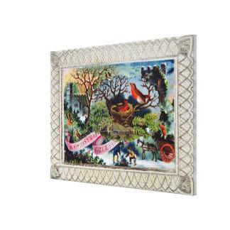 A Christmas Greeting, Victorian postcard Canvas Prints