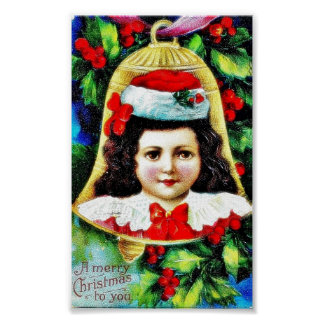 A christmas greeting with a child photo in the bel posters